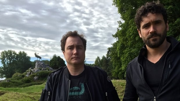Mark Crich and Allan Hawco host the Trail of the Caribou.