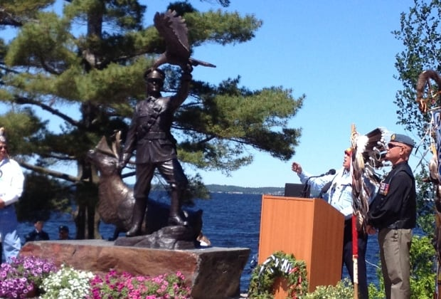Francies Pegahmagabow monument Parry Sound