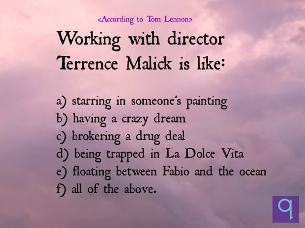 Terrence Malick's trippy directing