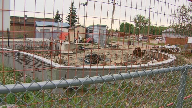 This outdoor pool in Transcona won't be completed until next year.