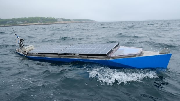 The four-metre aluminum boat could be the first vessel to make an autonomous transatlantic crossing, and also the first to cross using only solar power.
