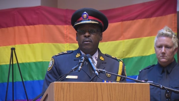 Toronto police Chief Mark Saunders sent a letter to the force following an attack on police officers in Dallas, taking the opportunity to point out those looking to 'drive a wedge between the TPS and the LGBTQ communities'.