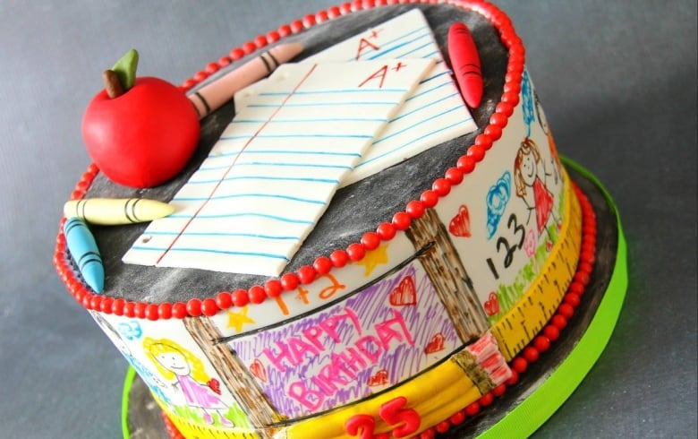 A School Themed Birthday Cake Facebook Cake708
