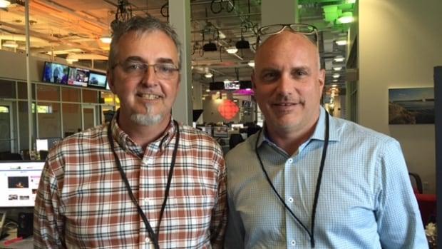 Mark VanZeumeren (left) is an engineer with the Stevens Group. Scott Stevens is vice-president.