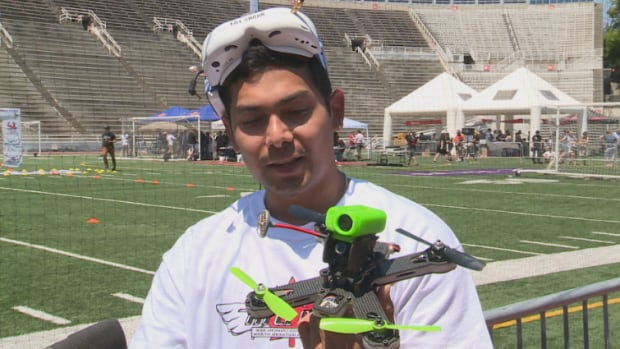 Ronald Mesa loves drone racing because it combines technology with sports.
