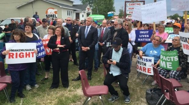 Dwight Ball Yvonne Jones Happy Valley-Goosey Bay legion protest