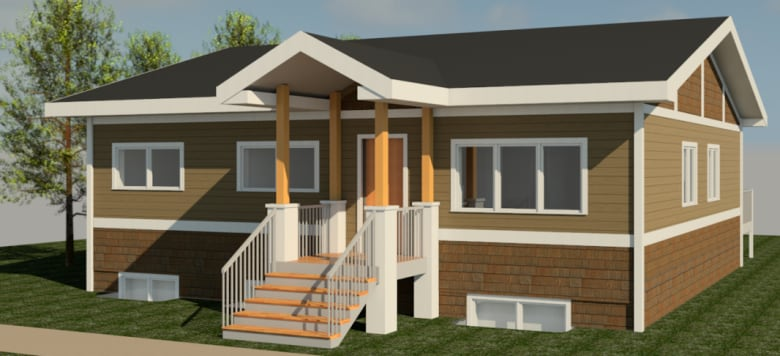 A drawing of a 1280 sq. ft. shipping container home. (Ladacor) & Bearspaw First Nation to experiment with shipping container homes ...