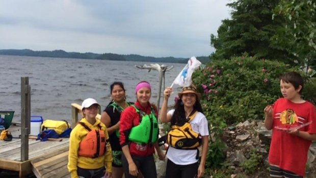 A group of indigenous women from Wahnapitae First Nation is in the early stages of a 19-day ceremonial canoe journey that will take them to Garden River First Nation, near Sault Ste Marie.