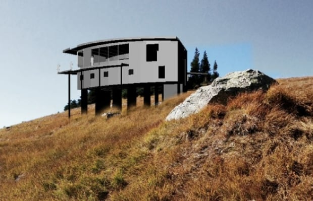 Russet Lake Hut mock up