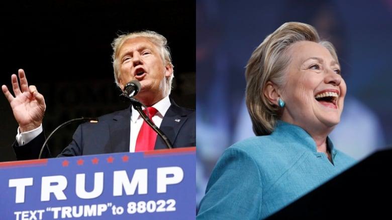 Donald Trump, Hillary Clinton composite