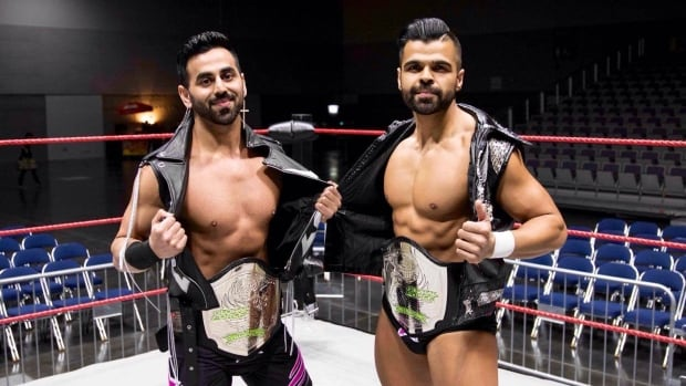Burnaby brothers Harv (left) and Gurv Sihra (right) made their WWE debut on June 23rd.