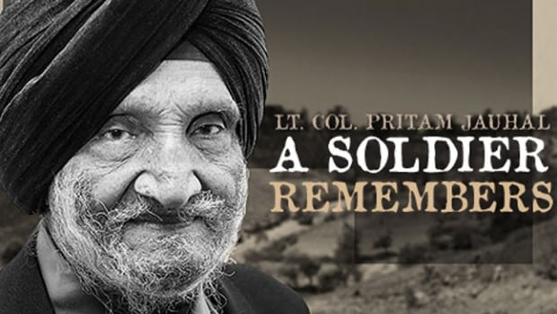 Lt.-Col. Pritam Singh Jouhal as pictured on the cover of his 2013 memoir. Jouhal passed away in Surrey at age 95 this past weekend.