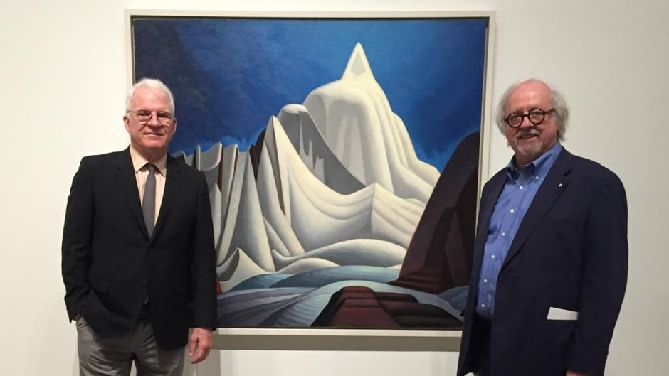 Steve Martin was Michael's guide for a tour of a new exhibition of Harris's work at the Art Gallery of Ontario.