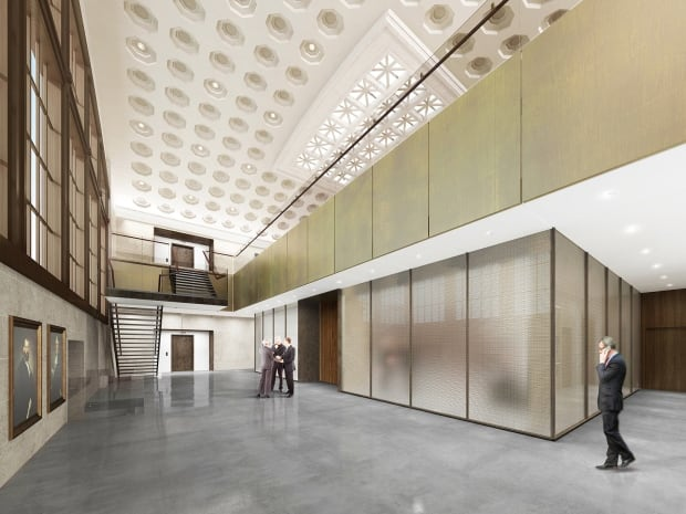 Senate Foyer Ceiling : New look for ottawa s old train station approved by ncc