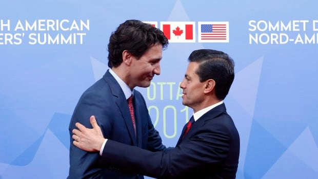 Prime Minister Justin Trudeau welcomed Mexican President Enrique Pena Nieto in  Ottawa last June. Their relationship has grown even more important in the months since then, following the election of Donald Trump and his commitment to either renegotiate, or end, the North American Free Trade Agreement.
