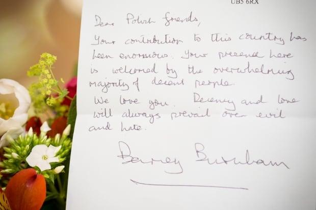 Barney Burnham London Poland xenophobia vandalism