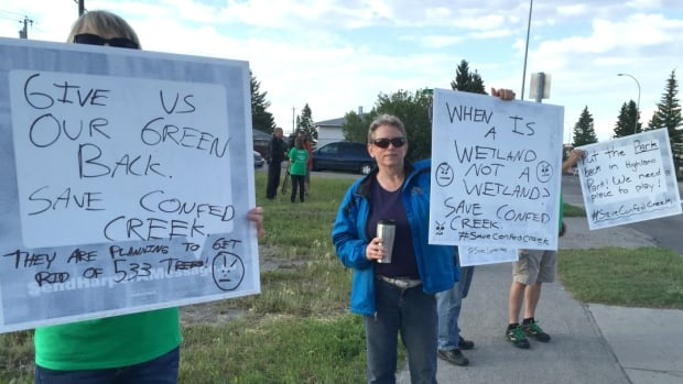 Some residents of communities in north Calgary are concerned that the plan for the former golf course in Highland Park will result in the loss of too much green space.