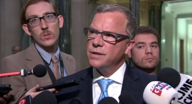 Premier Brad Wall spoke to reporters about the GTH land deals