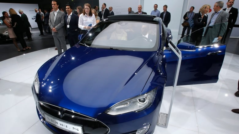 A Tesla Model S Is Shown On Display At The Frankfurt Auto Show In This Sept 15 2015 Photo Michael Probst Associated Press