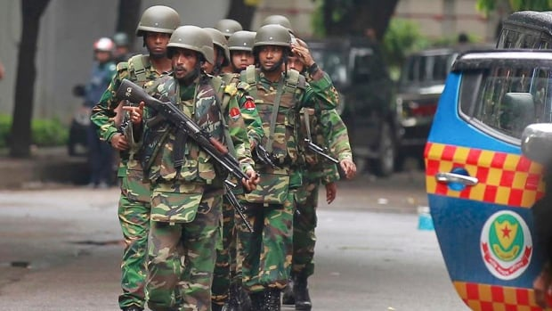 Bangladeshi soldiers stormed the restaurant, which was popular with foreigners, after heavily armed militants attacked it and took several hostages.