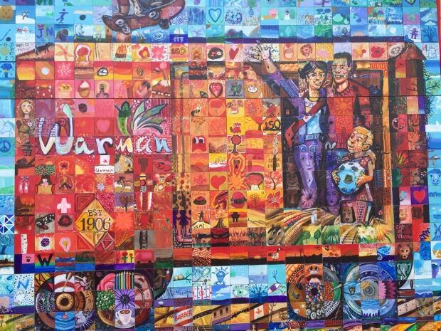Main Mural Warman Sask Canada Day Birthday