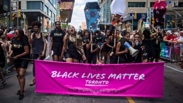 Black Lives Matter Toronto, which was invited by Pride Toronto to help lead this year's parade, brought the procession to a standstill until a list of demands were met.