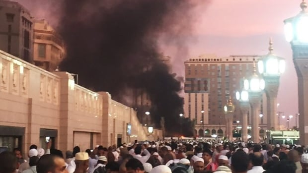 One of three explosions in Saudi Arabia on Monday was near one of Islam's holiest sites in the city of Medina.