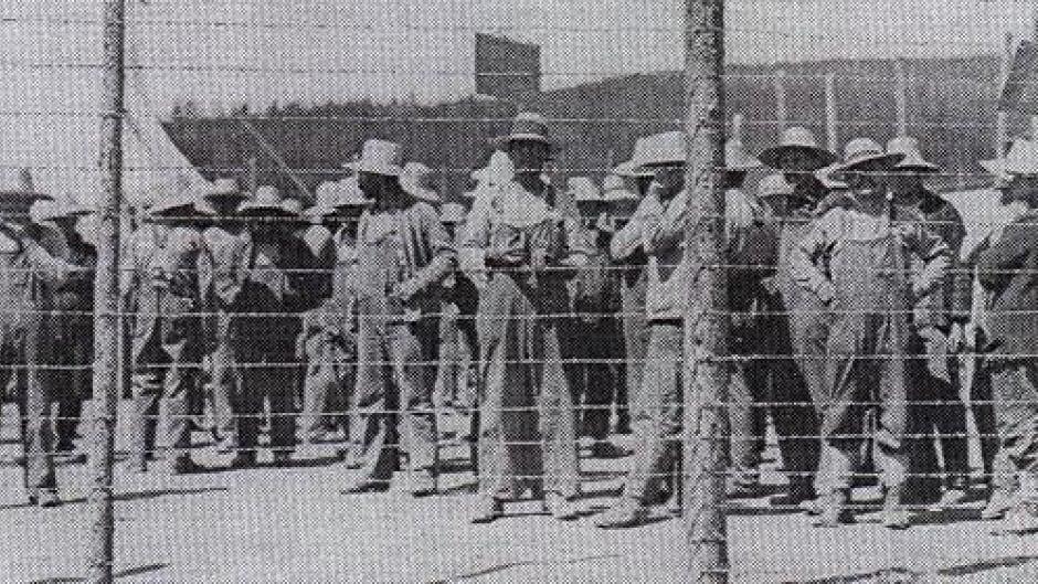 Prisoners of Camp 33 in Petawawa, Ontario.