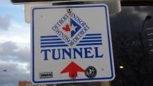 Detroit Windsor Tunnel stock sign
