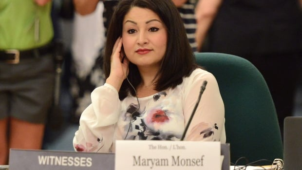 Minister of Democratic Institutions Maryam Monsef appears as a witness at an electoral reform committee on Parliament Hill in Ottawa on Wednesday July 6, 2016.
