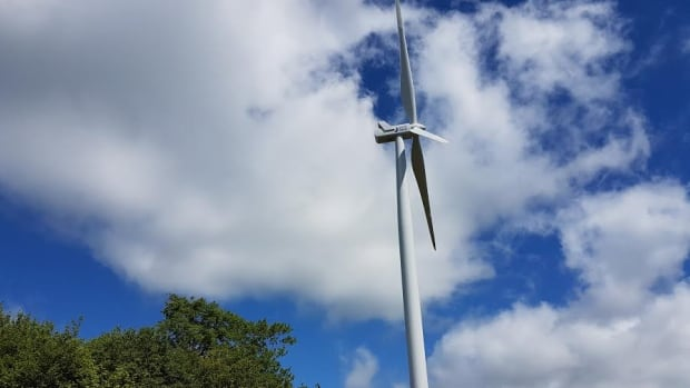 The turbine outside Baddeck will begin generating power next week.