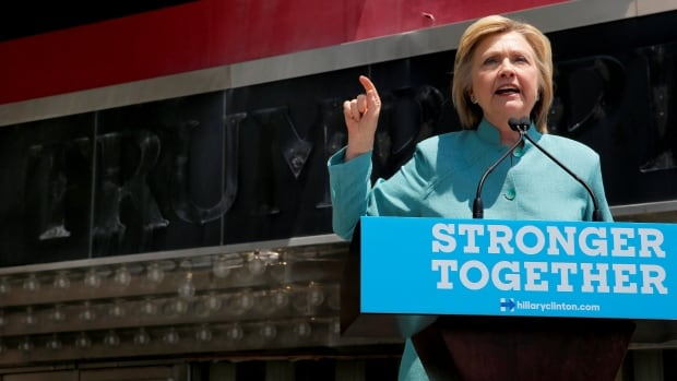 U.S. Democratic presidential candidate Hillary Clinton delivers a campaign speech outside in Atlantic City, N.J. U.S. Attorney General Loretta Lynch confirmed Wednesday the investigation into Clinton's private email server has been closed, with no charges coming.