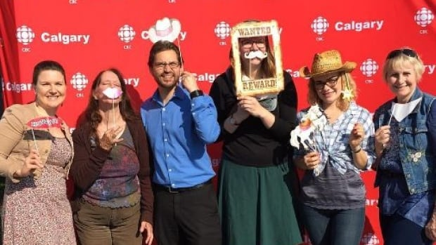 Calgarians packed into the annual CBC Co-op Stampede Breakfast to meet their favourite CBC personalities, win prizes, dress up and enjoy the free food.