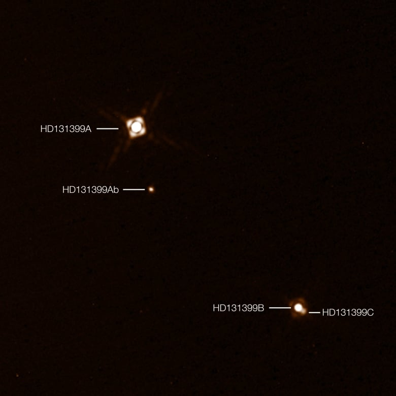 Astronomers spot giant planet with 3 suns