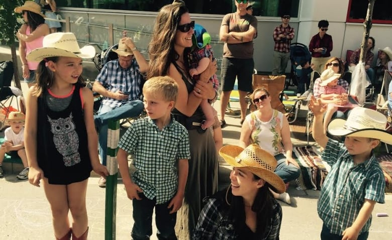 Little Cowpokes Were Among Those Watching Excitedly From