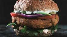 Sweet potato quinoa burger