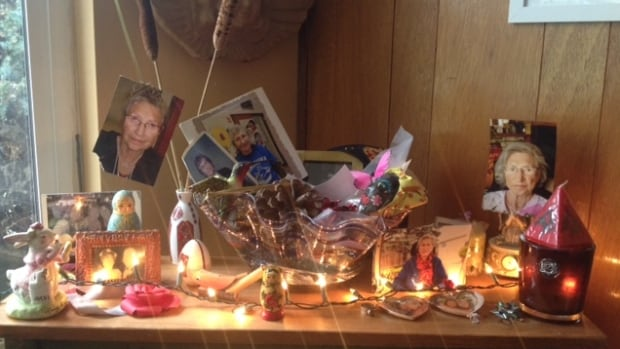 In her East Vancouver home Deborah Magdee set up a shrine to her late mother Elsie. Magee led a home funeral for her after she died.