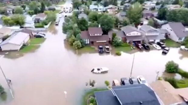 Mitch Stefan posted drone footage of the Estevan flooding to his Facebook page in 2016.