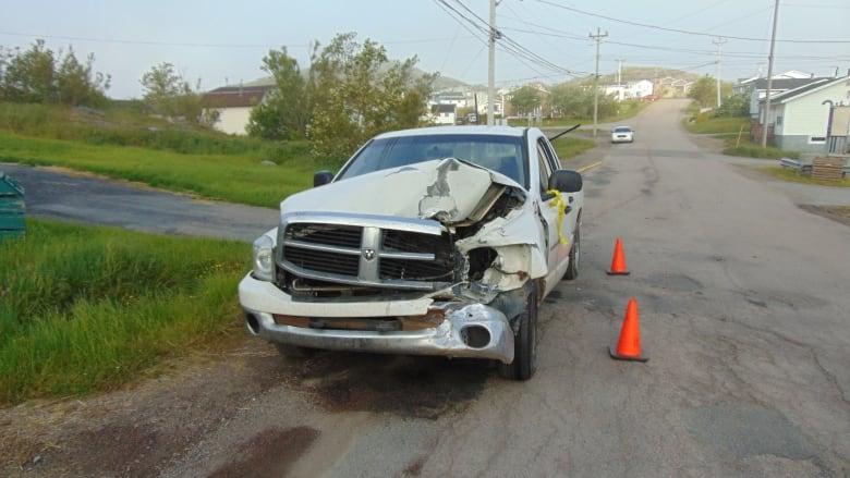 drunk driver caught  vehicle breaks   fogo island cbc news