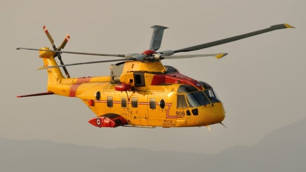 A Cormorant search and rescue helicopter out of Gander was used in the rescue mission, along with coast guard auxilliary vessels.