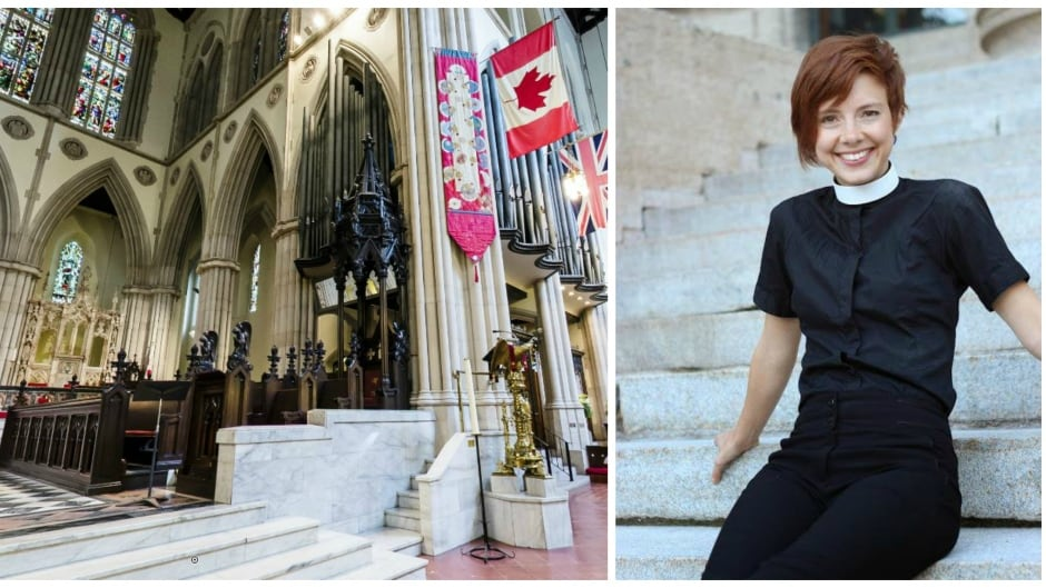 Inside Toronto's St. Paul's Anglican Church / Anglican priest Allison Courey