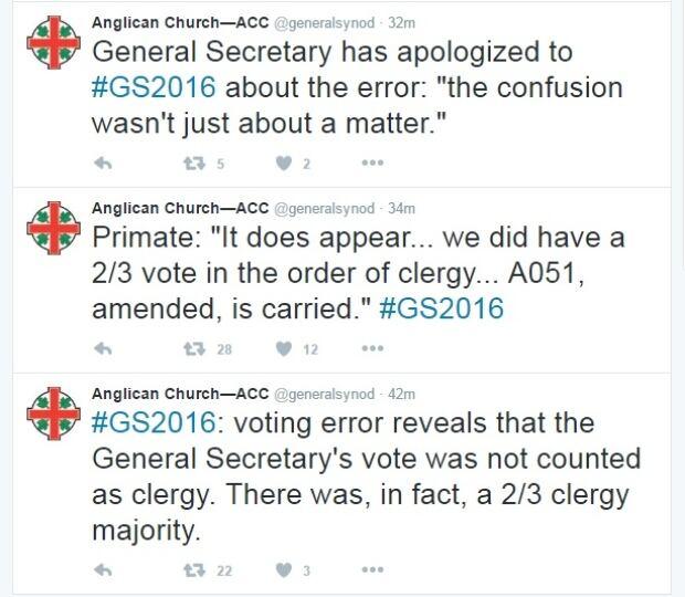 Anglican tweets
