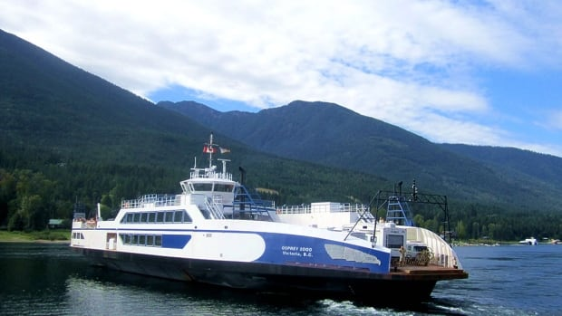 The Osprey 2000 operates between Balfour, B.C., and Kootenay Lake Bay.