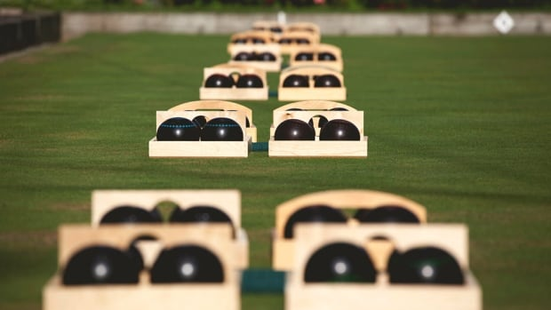 Lawn bowling is 'a great way to come out and relax in the sun,and have a drink,' says Frances Scott.