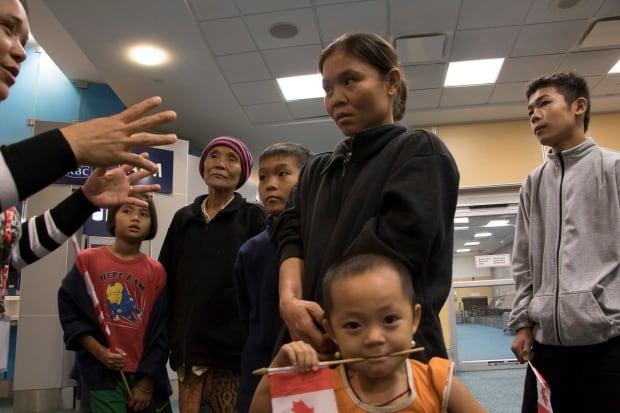 Burma refugee family