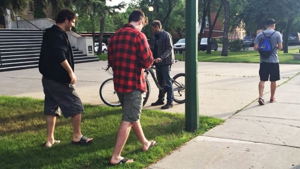 Pokemon Go players in Regina, Sask. in July 2016