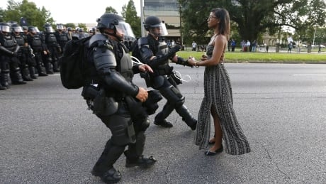 WIP Baton Rouge protest girl Ieshia Evans arrested July 9 2016