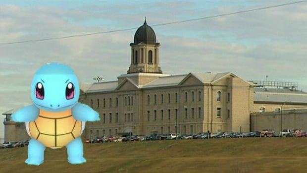 pokemon go may be drawing players to stony mountain prison cbc news