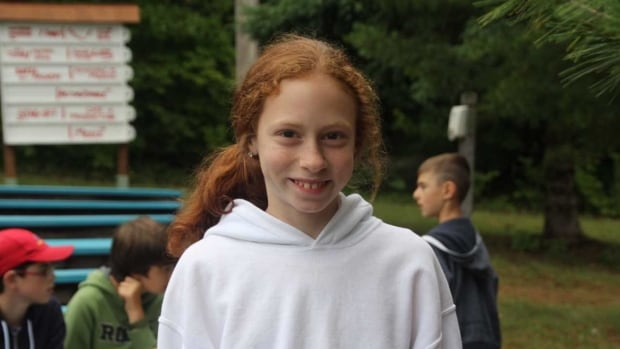 Abby (seen here at her Laurentians camp) included a postal code in her letter to her grandmother but there are 850 homes on that route.