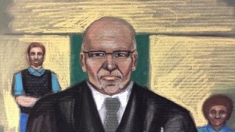 Richard Bain court sketch